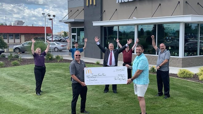 The Ionia McDonald's has donated more than $13,500 to the Ionia Free Fair.