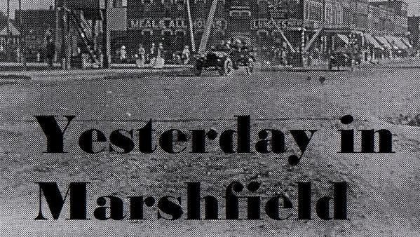 A snow, rain and hail storm  decorated Marshfield in snow white patches 50 years ago.