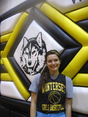 Winterset guard Mariah Criswell, an all-state player, puts herself through 90-minute workouts in the gym.