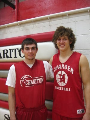 Chariton juniors Daric Laing (left) and T.J. Hockenson are teammates in four sports in addition to being best friends.