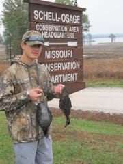 Eli Householder,15, Milo, shot two teal on his first