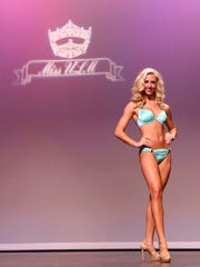 Contestants compete for the crown in the Miss Louisiana