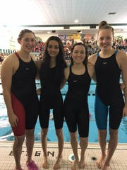 Plymouth's 200-yard freestyle relay team, composed