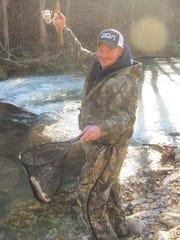 Robert Palson, Joplin, nets  one of the 21 rainbow
