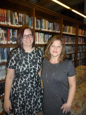 Baldwin Library Associate Director Rebekah Craft and Baldwin Books & Bites Chair, for her fourth year, Janelle Boyce.