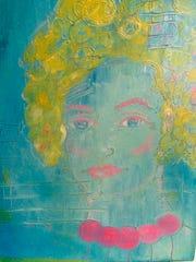 """Work by Carmen Navar, part of """"Faces, Etc. ..."""""""