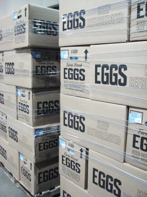 Rose Acre Farms egg donation to Gleaners Food Bank. (Provided by Debbie Wilson, 317-925-0191 ext. 117)