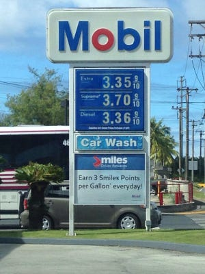 Guam's gas prices dropped 10 cents, to $3.35 for regular grade, on Friday, Jan. 22.