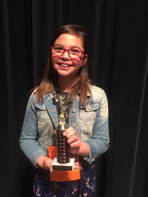 The Cobre District English Spelling Bee Champion was Kaylee Herrera, a fifth-grader from Bayard Elementary.  The competition was held Thursday at Cobre High School.
