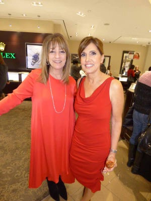 Tapper's Director of Marketing Ann Duke and Go Red for Women Fashion Show model and Event Sponsor Deanna Lites of WWJ-radio on Southfield.
