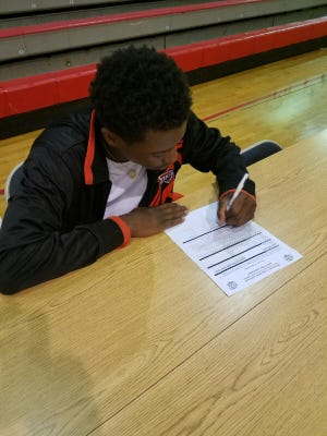 Richwood guard Justin Williams signed a scholarship with Southern-Shreveport on Tuesday.