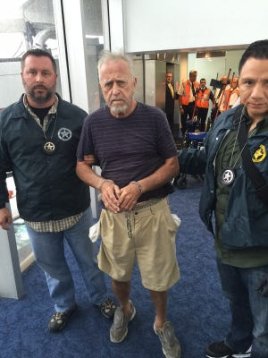 Nelson Sanderson, wanted by authorities on child molestation charges, was picked up in Nicaragua last week.