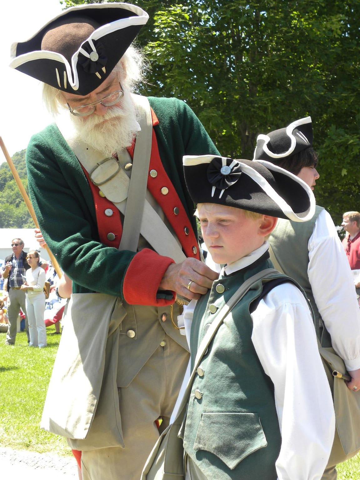 Young and old living historians will reenact the soldier's
