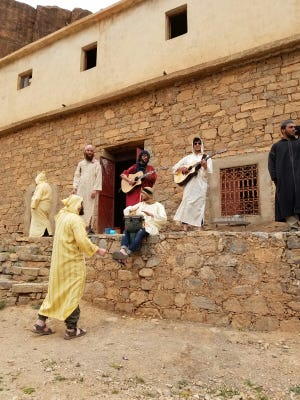 Rabbi Aaron Lankry says a group of more than 100 men from a Monsey temple were greeted warmly with dancing and singing by a Muslim tribe in Morocco at a sacred site. The group of men also brought goats and lambs as gifts to the Muslim tribe.