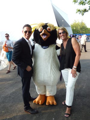 Penguin Palooza Co-Chairs Joe Campanelli of Bloomfield Hills and Karen Cullen of Grosse Pointe.
