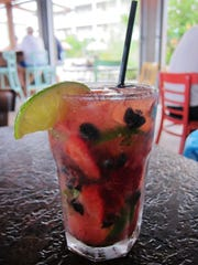 The Beach Plum Farm provides the berries for the mojitos