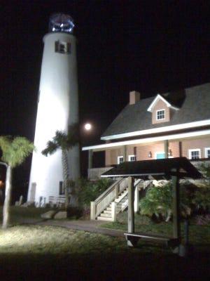 The Cape St. George Lighthouse on St. George Island.