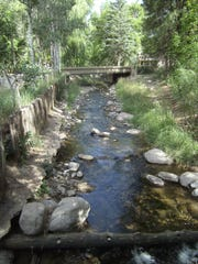 Sturdy bridges cross the Rio Ruidoso along Ruidoso River Trail.