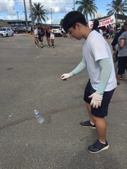 Water bottle flipping is the latest viral trend to land on Guam.