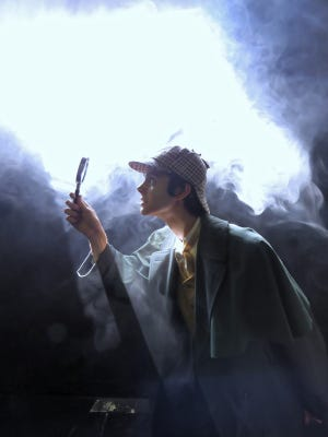 """Max Halley, 17, as Sherlock Holmes for Debut Theatre Company's production, """"The Adventures of Sherlock Holmes."""""""