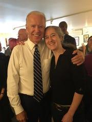 Vice President Joe Biden and chef Maura O'Sullivan at Penny Cluse Cafe Friday morning.