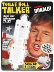Donald Trump Toilet Roll Talker available from Amazon.