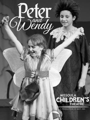 """The Missoula's Children Theatre and 50 local children will put on """"Peter and Wendy"""" Saturday at Green Lake's Thrasher Opera House."""