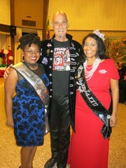 Tiana Kennell, Jim Hayes, Levette Fuller at Krewe Artemis-Springhill XV Grand Ball.