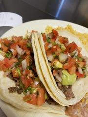Carne asada tacos from Pancho's.