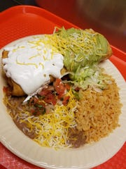 The chimichanga combo plate at Pancho's does not skimp.