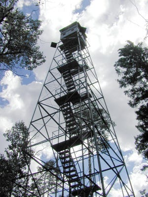 The lookout tower that Edward Abbey manned in the early 1970s on the North Rim of the Grand Canyon, just inside the National Park boundary.