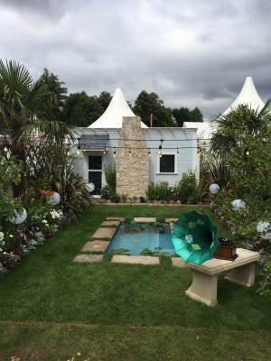 This replica of Mina's Moonlight Garden at the Edison & Ford Winter Estates was an American showcase during the Royal Horticultural Society's annual Hampton Court Palace Flower Show.