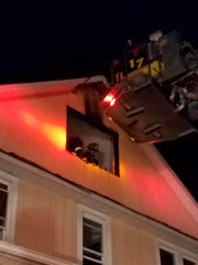 A fire damaged a house on Prospect Street in Spring