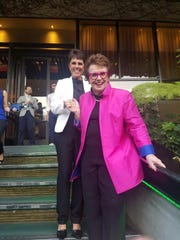 Billie Jean King and partner Ilana Kloss during the