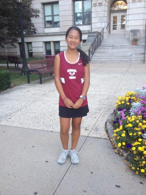 Aira Abalos will compete in the state tournament next week for Bloomfield girls tennis.