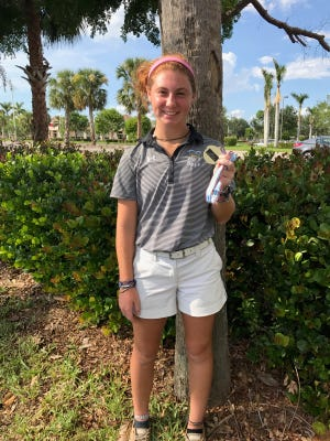 St. John Neumann golfer Sophie Shrader was the medalist at the Class 1A-District 18 tournament Monday, Oct. 17, 2017, at the Hideout Golf Club in Naples.