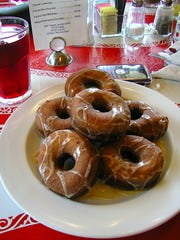 Doughnuts at the Wobble Cafe in Ossining.