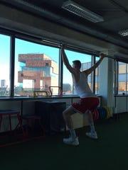 Trainer Stijn Van Herzeele said the weight of the bar