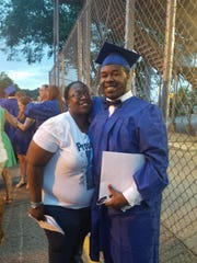 Arica Samuels and her son, Keanan Samuels, who was