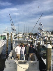 Kurt Riggott, Doug Blanchard, Mark Coomber and Dave Lamoreau combined to catch and release 16 sailfish on a day last year aboard DayMaker charters with Capt. Patrick Price out of Sailfish Marina in Stuart.
