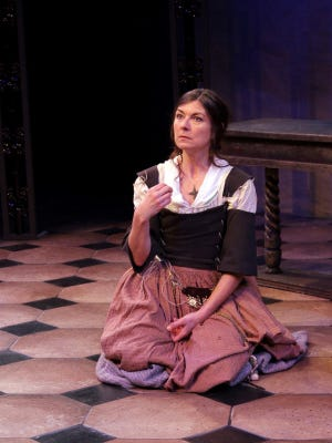 """Janet Haley as Giulia Tofana in the World Premiere of """"Our Lady of Poison"""" by Joseph Zettelmaier at the Williamston Theatre."""