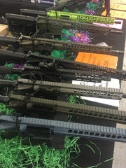 A variety of guns were for sale at the North Florida Gun Show.