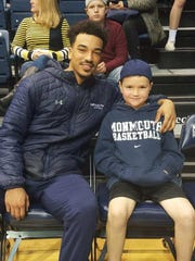 Monmouth basketball standout Micah Seaborn with Matthew