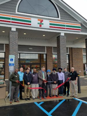 On Friday, April 27, officials from the township and 7–Eleven Inc., among others, celebrated the opening of the new convenience store and Valero fuel station located just south of the Cranbury Circle on Route 130 North, with a ribbon cutting.