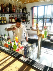 The bar at Casa Corazon in Phoenix.