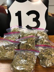 Nearly 11 pounds of marijuana was seized during a May