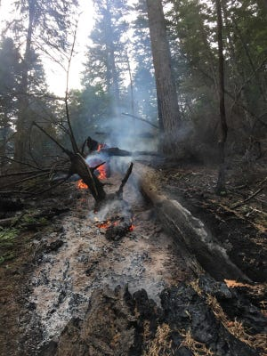 A small flare up of the Eagle Creek Fire was reported today.