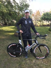 Marty Krafcik will try to complete his 11th Ironman competition this month.