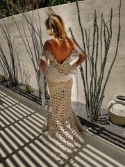 Frank Cazares from Palm Springs made this dress out