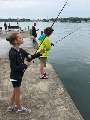 Students who worked as crossing and bus guards for Oak Harbor Middle School and R.C. Waters Elementary visited Put-in-bay on June 1.